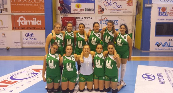 11/10/2014 under 16 SPES BLU vs PALLAVOLO CASTION 3-0 (25-15 25-23 25-23)